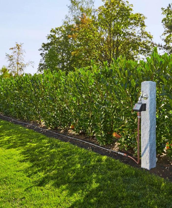impianto a goccia per siepe giardino orto