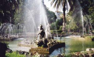 giardino inglese palermo fontana centrale sculture mario rutelli